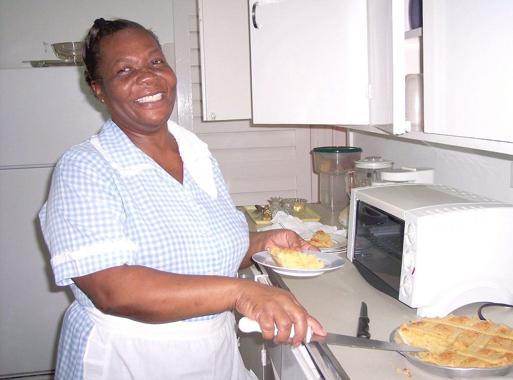 Everyone loves cheerful cook Chubby for her scrumptious meals and especially for her ever-present tin of homemade cookies, baked fresh every day.  Preteen apprentices are always welcome in he