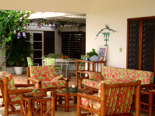 The Great Room opens to a casual furnished verandah ...
