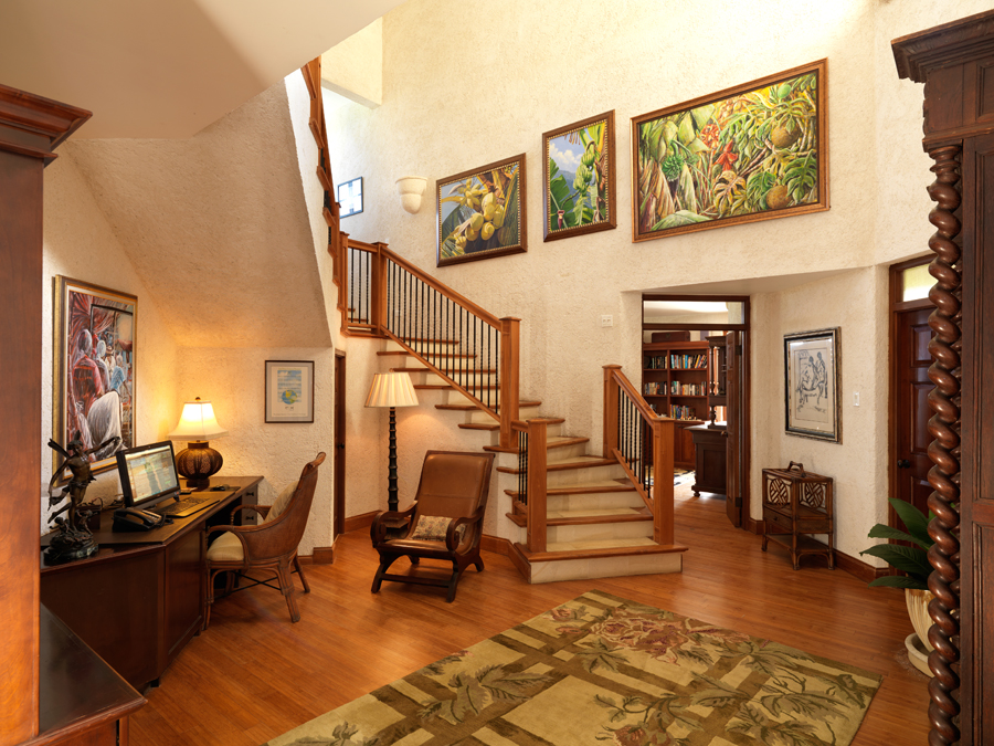Upstairs are three more lovely bedrooms, each with balcony and breathtaking view.
