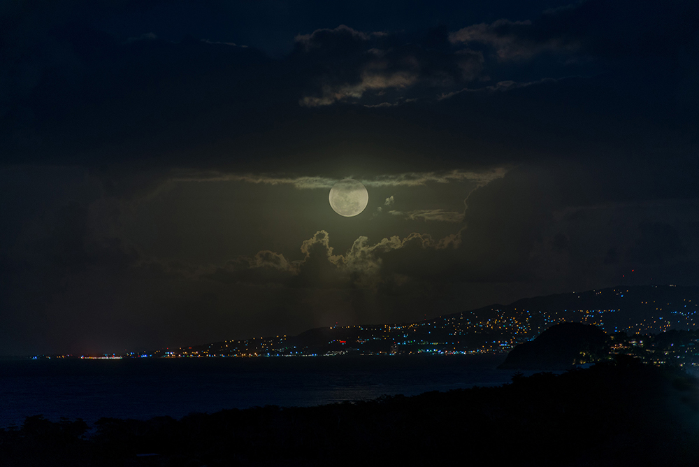The moon rising over Montego Bay is breathtaking.