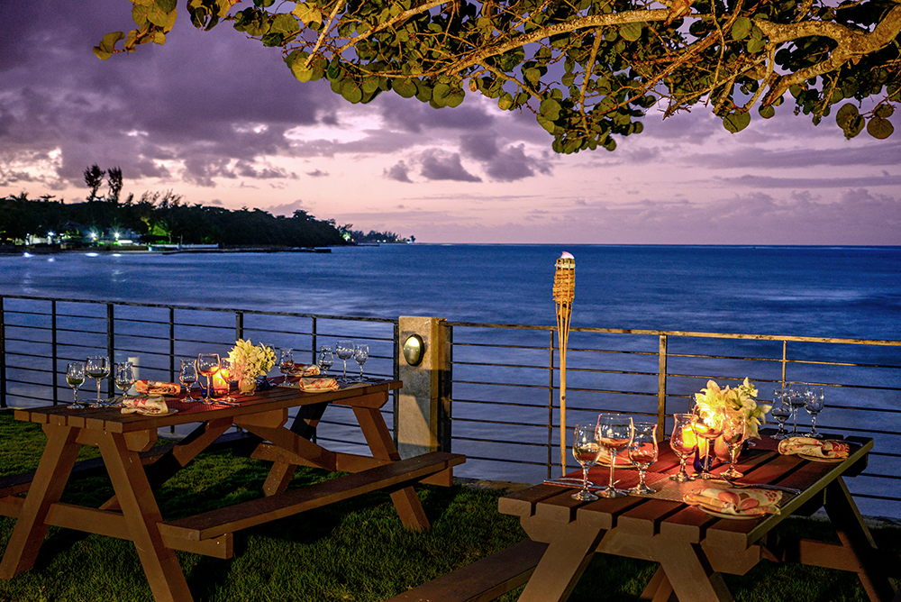 You can even enjoy dinner outdoors overlooking beach and ocean with a front row viewing of spectacular sunsets and starry night skies.