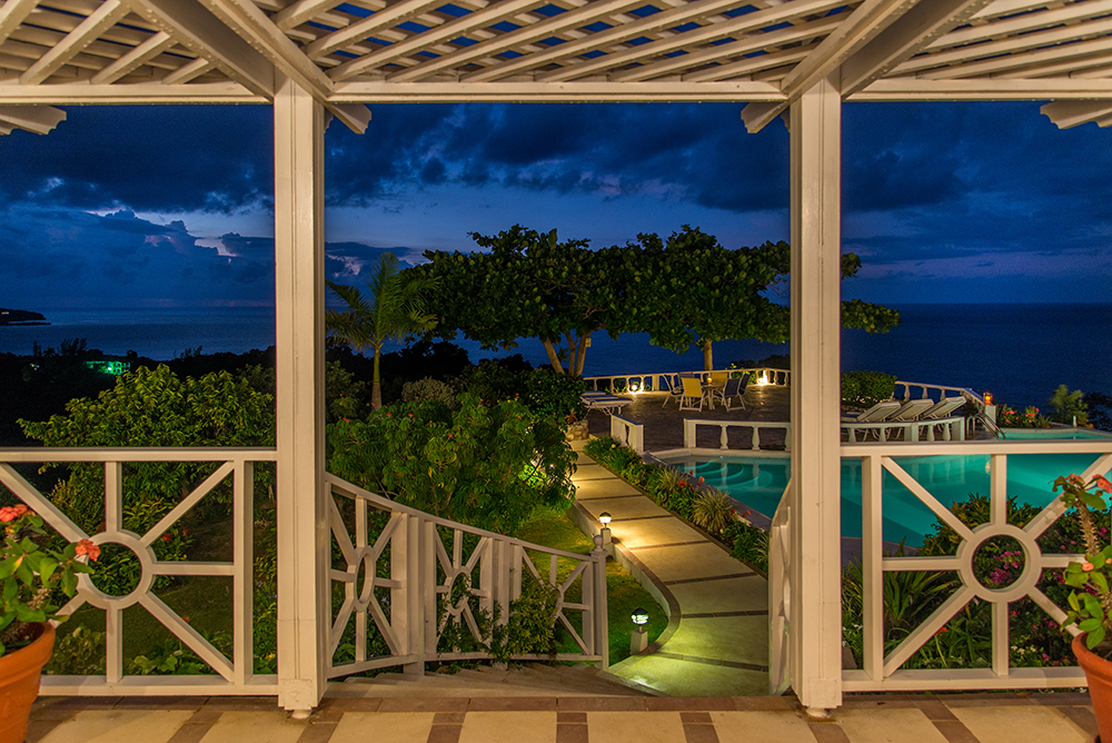 Later, wander back to poolside and the best seats in town for star gazing. Keep your camera handy.  The full moon from this vantage point is amazing.