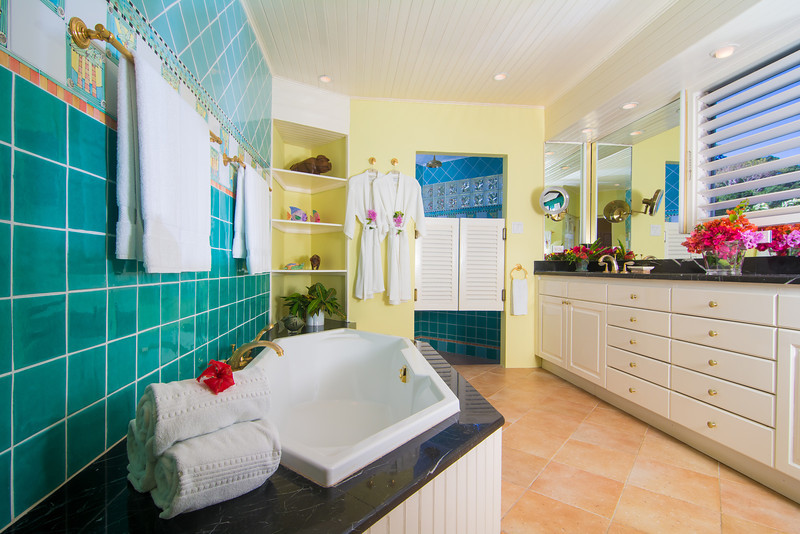 ... and en-suite bathroom with deep bathtub and walk-in shower. The Master Suite connects to a passageway with trundle beds for 2 children..