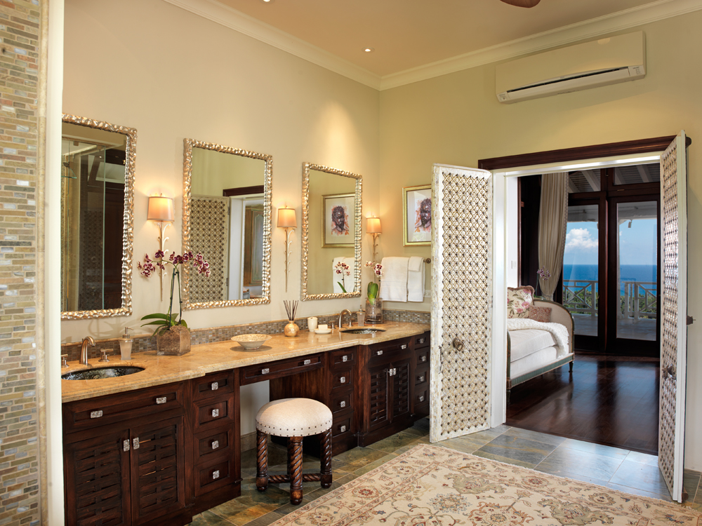 ... and a large second bathroom for this double suite of rooms.