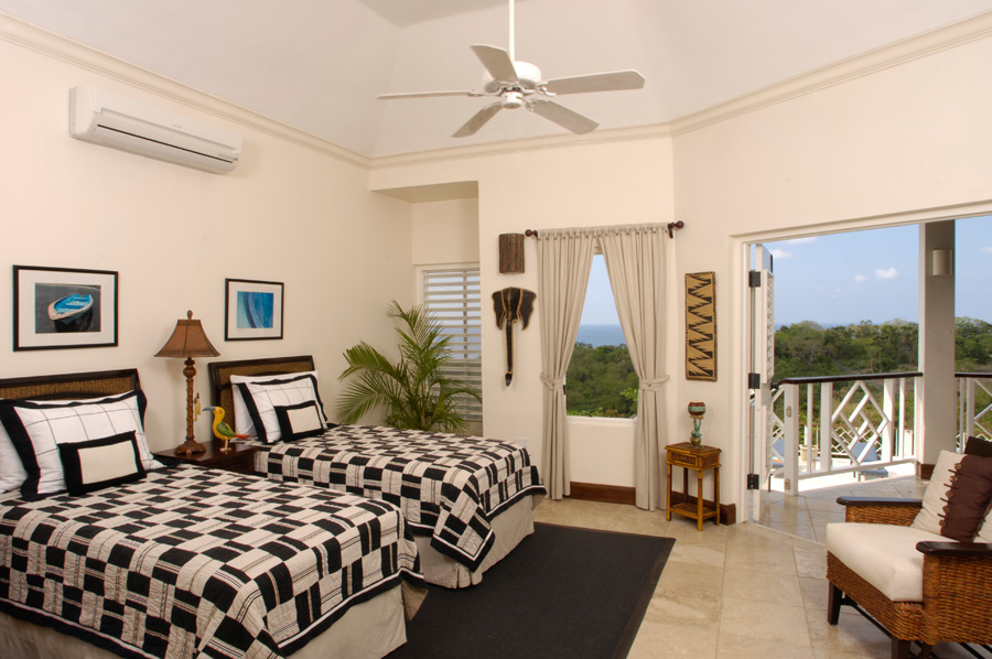 Haystack's bedrooms are on four levels: Five large bedroom suites are on the main level.