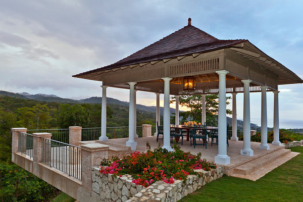 Or for the ultimate al fresco dining experience, choose the gazebo ... uniquely cantilevered over the deep green valley!