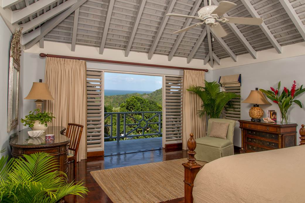 ACCOMMODATIONS - MAIN LEVEL Master  Bedroom Suite  Kingsize bed, dressing room, his'n' hers bathrooms, 2 walk-in showers, 1 whirlpool bathtub, and a private balcony overlooking the pool, gr
