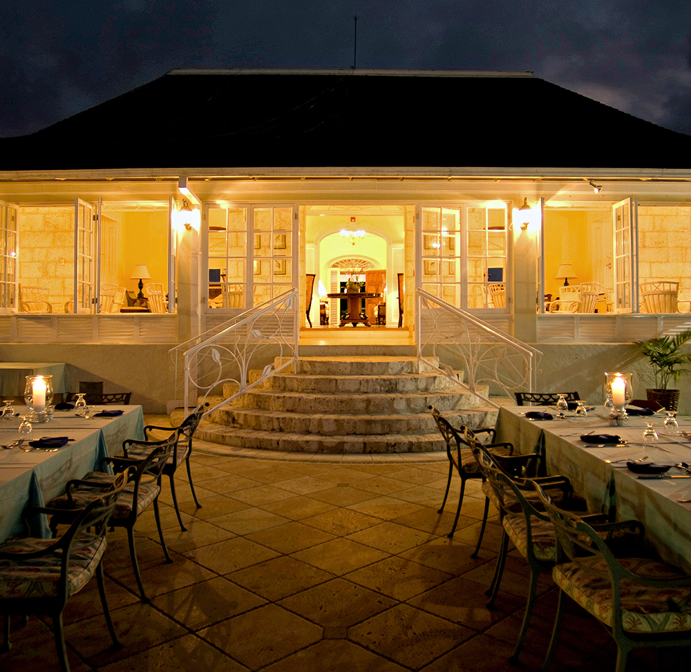 On select nights, make reservations at the elegant Great House terrace for Continental or Jamaican specialties ...  ... or head to the beach for the two weekly party nights:  barefoot beach