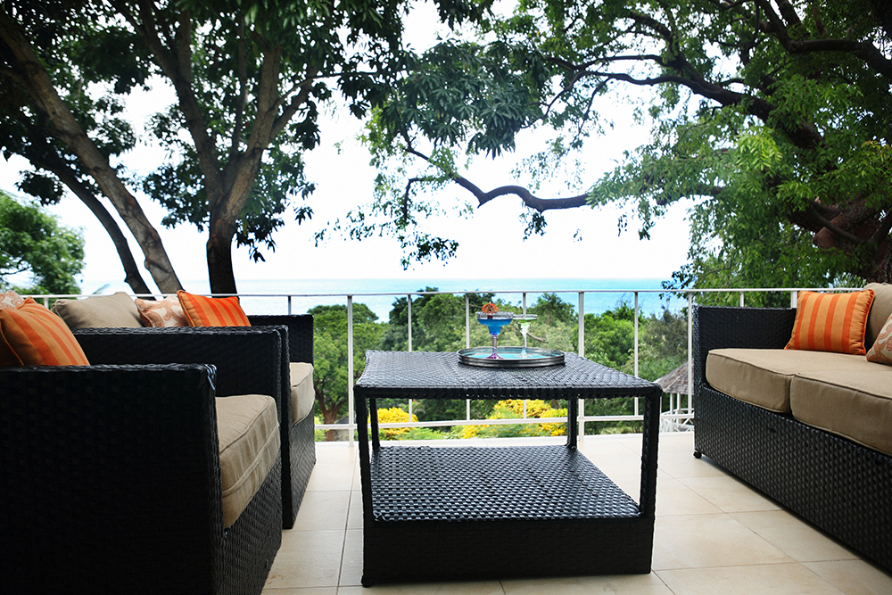 Terrace sitting area off the master bedroom.