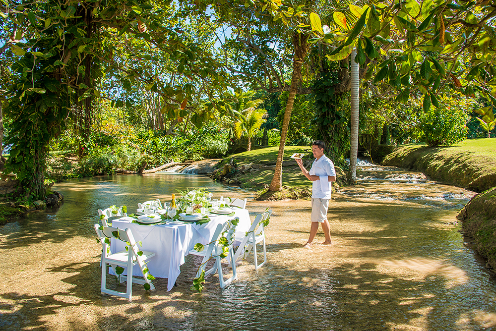 River Pool Dining