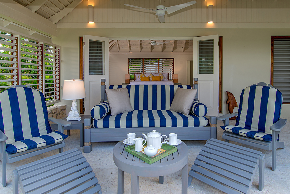 Second master in the main house with its comfortable verandah for morning coffee.