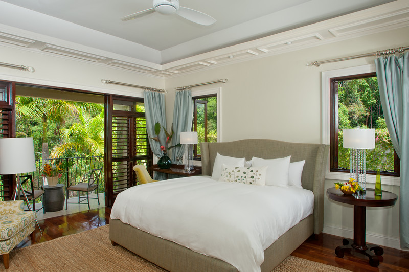 The second MASTER BEDROOM is in the opposite wing on the other side of the villa.