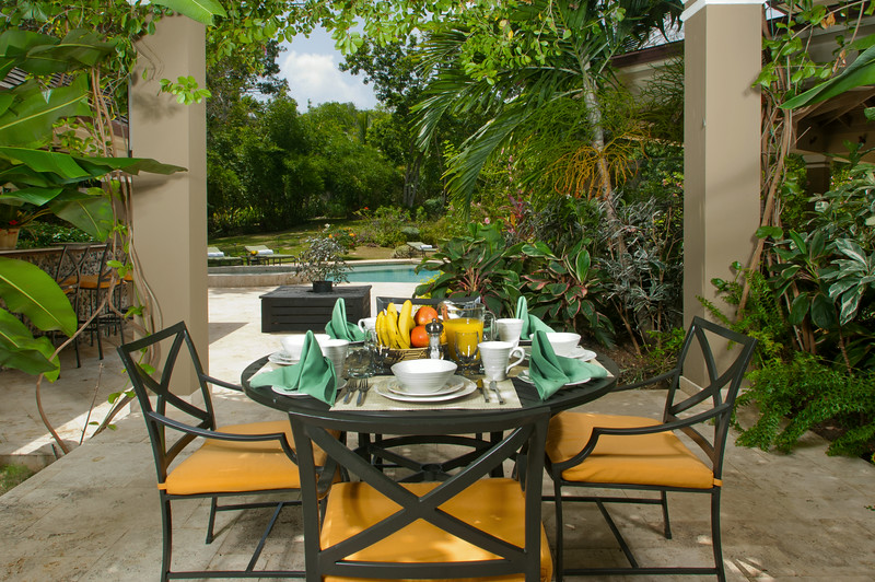 Or request service in a more private spot on the side terrace for just two or four of you.