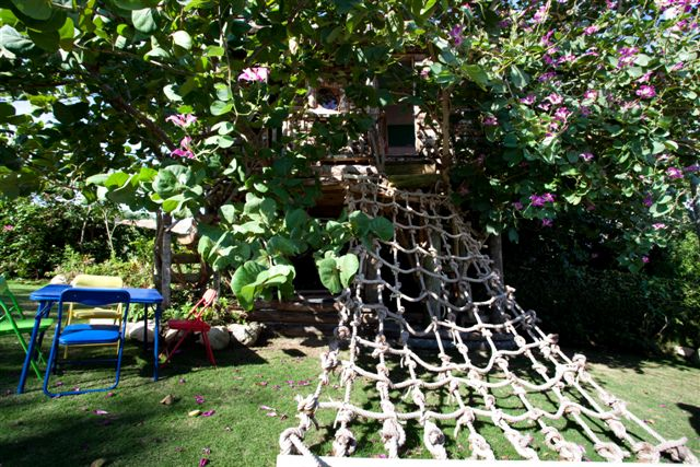 Tucked in an orchid tree, Littleview has been the site of many escapes along a giant rope hammock.