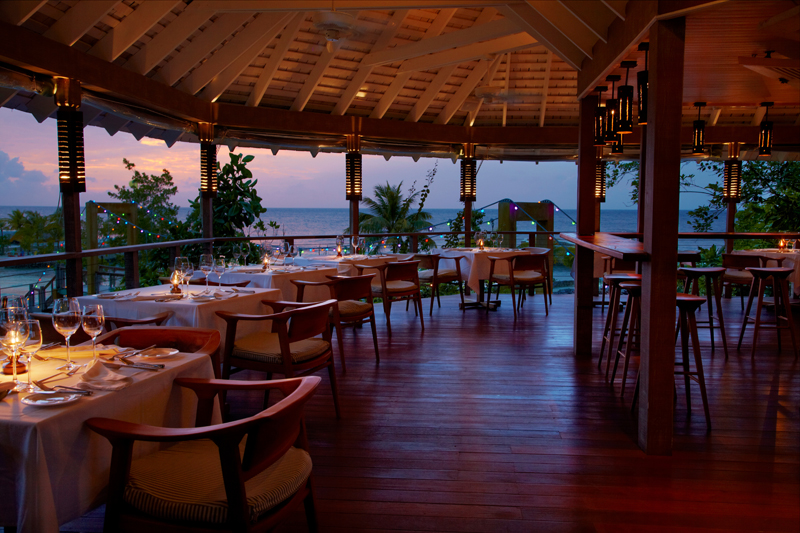 If you want to leave your villa, linger over evening meals in the GAZEBO RESTAURANT with sophisticated wine lists and menus.