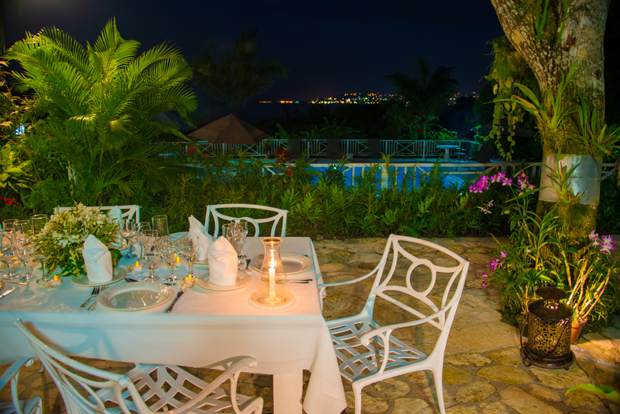 WILD ORCHID is a 5-bedroom staffed villa with views of the sea and opposite shore of Montego Bay ... breathtaking day and night.